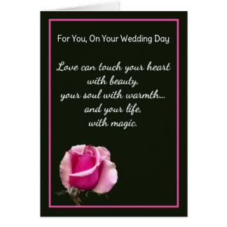 För dig på din bröllopsdag hälsningskort