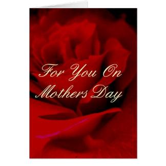 För dig på mors dag hälsningskort
