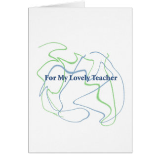 För din lärare hälsningskort