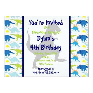 För Dinosaurbarns födelsedag för T Rex 11,4 X 15,9 Cm Inbjudningskort