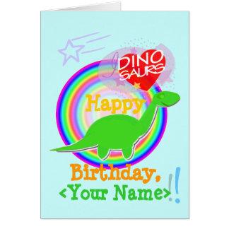 För DiplodocusDino för grattis på födelsedagen Hälsningskort