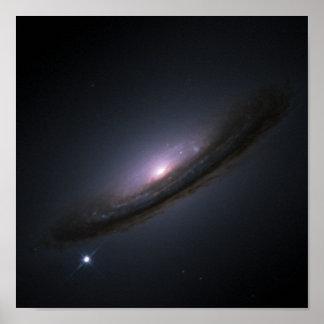 För diskgalax för Supernova 1994D NASA Poster