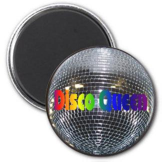 För diskodrottning för Retro 80-tal skina   boll Magnet