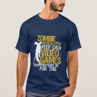 För dobbelT-tröja för behålla lugna rolig T-shirts