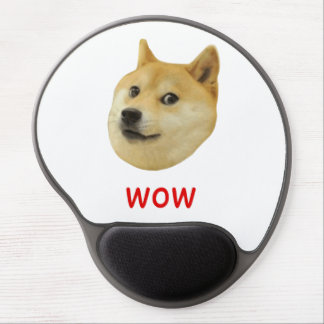För Doge wow mycket mycket hund sådan Shiba Shibe Gel Musmatta