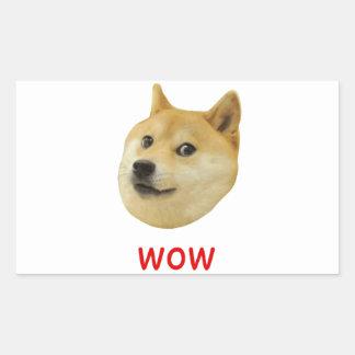 För Doge wow mycket mycket hund sådan Shiba Shibe Rektangulärt Klistermärke