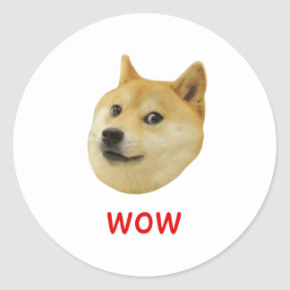 För Doge wow mycket mycket hund sådan Shiba Shibe Runt Klistermärke