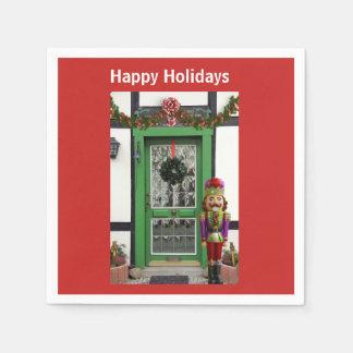 För dörrnötknäppare för glad helg festliga servett