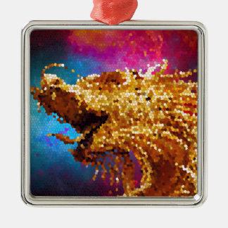 För drakegalax för abstrakt målat glass guld- julgransprydnad metall