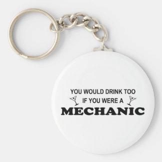 För drink mekaniker för - rund nyckelring