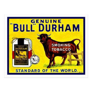 För Durham för vintage1890stjur annons tobak Vykort