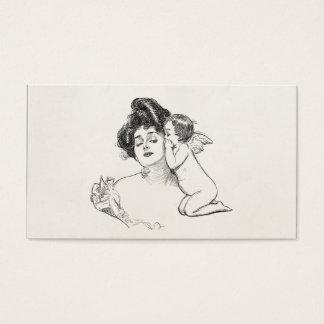 För Edwardian för vintageGibson flicka Cherub för Visitkort