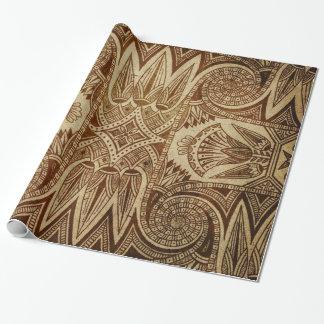 För egyptierpapper för vintage guld- tryck presentpapper