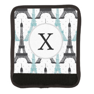 För Eiffel för MonogramAqua chic mönster torn Handtagskydd