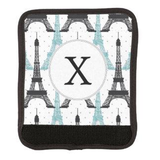 För Eiffel för MonogramAqua chic mönster torn Handtagsskydd