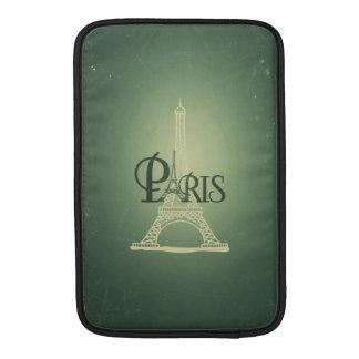 För Eiffel för vintage grön Paris torn design Sleeves För MacBook Air