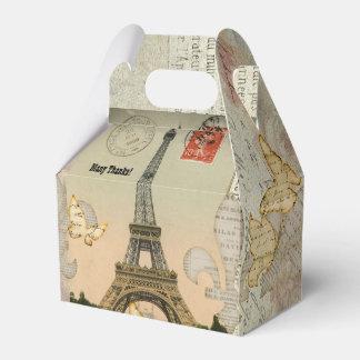 För Eiffel för vintageParis Collage personlig torn Presentaskar