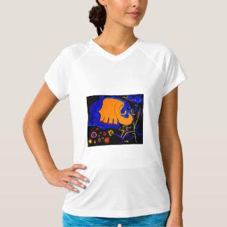 för elefantabstrakt för tshirt rosa orange målning tee shirts