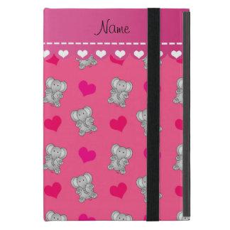 För elefanthjärta för personlig känt rosa mönster iPad mini cases