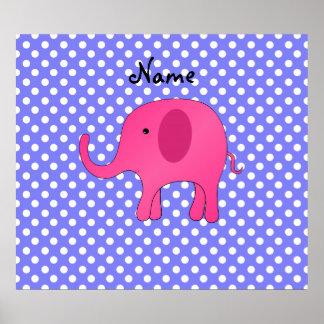 För elefantlilor för personlig känd rosa polka dot print