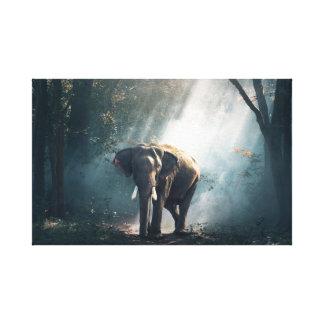 För elefantmålning för möte den asiatiska canvastryck