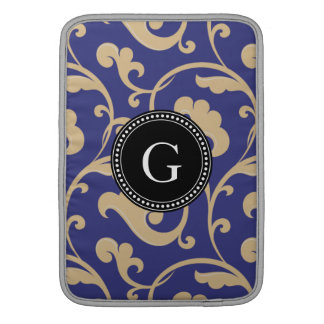 För elegant för blåttblommönster flickaktigt MacBook sleeve