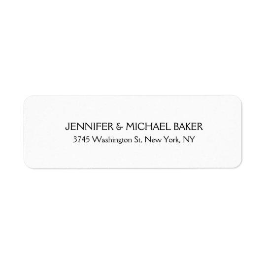 För elegant modernt efternamn Minimalistslätt för Returadress Etikett