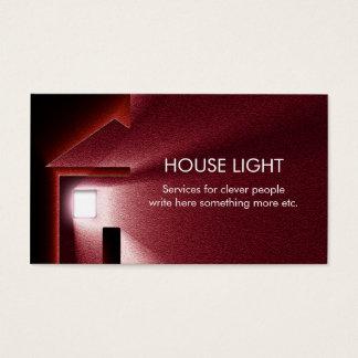 för elektricitetsenergi för hus ljus visitkort