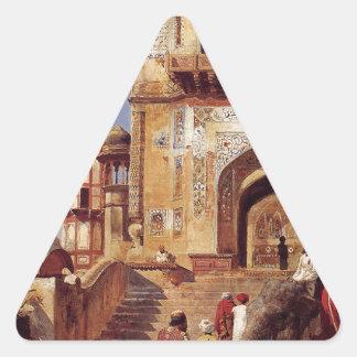 För en moské av Edwin Lord Vecka Triangelformat Klistermärke