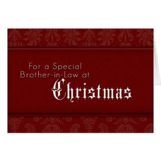 För en speciell broder i lag på jul hälsningskort
