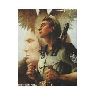 För Ettore Muti för legion oberoende affisch Canvastryck