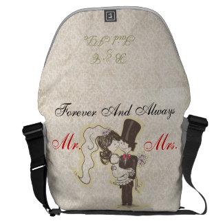 För evigt & alltid att gifta sig hänger lös kurir väskor