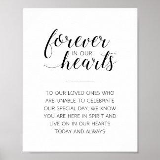 För evigt i vårt gifta sig för hjärtor poster