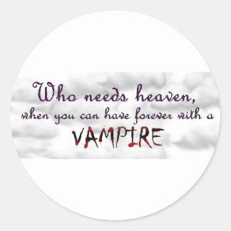 För evigt med en vampyr runt klistermärke