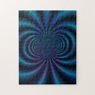 För fältFractal för blått magnetiskt pussel