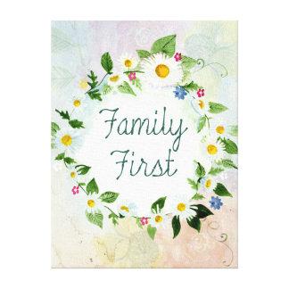 För familj inspirera citationstecken först canvastryck