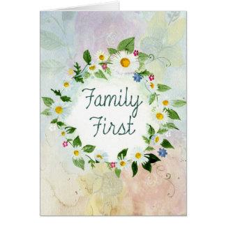 För familj inspirera citationstecken först hälsningskort