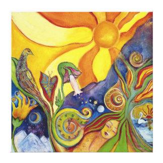 För fantasipop för solsken dröm- felik konst canvastryck