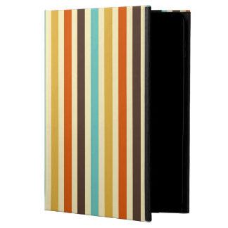 För färgblått för vertikala randar röd Retro gult iPad Air Skal
