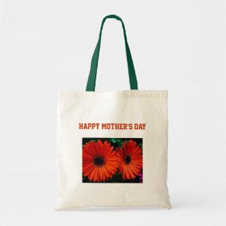 för färgdaisy för lycklig mors dag orange blommor tygkasse