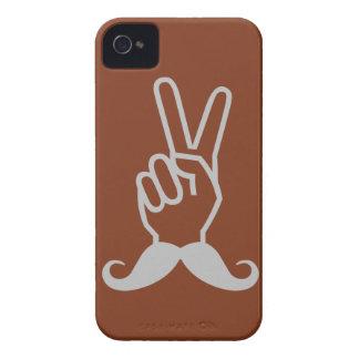 För färgiPhone för vinnande mustasch beställnings- iPhone 4 Case-Mate Skydd