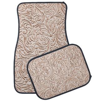 För färgvintage för Sand beige fransk Scrollwork Golvmatta Bil