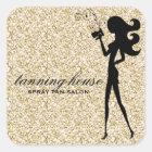 För FashionistaSilhouette för 311 sprej solbränt Fyrkantigt Klistermärke