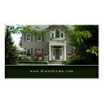 För fastighethus för elegant grön visitkort