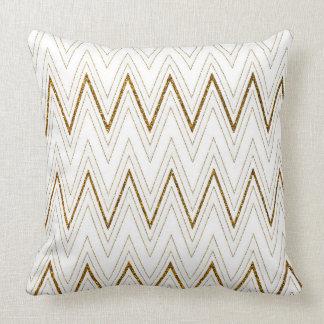För fauxglitter för elegant vit guld- mönster för kudde