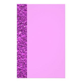 För Fauxglitter för plommon purpurfärgad struktur Brevpapper