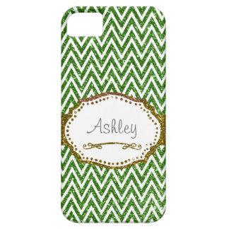 För Fauxglitter för sparre grön personlig iPhone 5 Cover