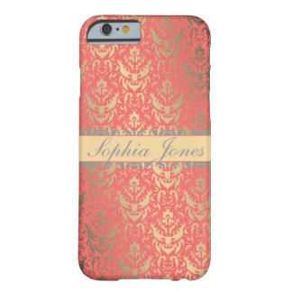 För FauxShimmer för förgylld persika elegant Barely There iPhone 6 Skal