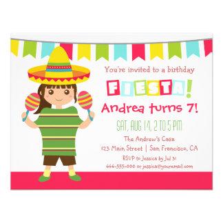 För Fiestabarns födelsedag för sparre mexicanskt Anpassade Inbjudningskort