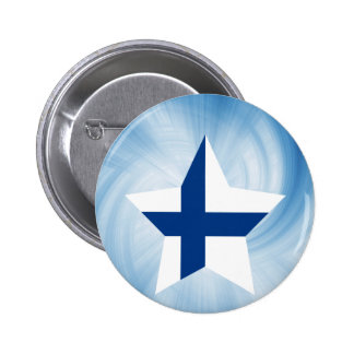 För Finland för unge vänlig stjärna flagga Standard Knapp Rund 5.7 Cm